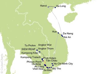 20 Night Grand Tour of Vietnam and Cambodia Cruise and Land Tour from Siem Reap