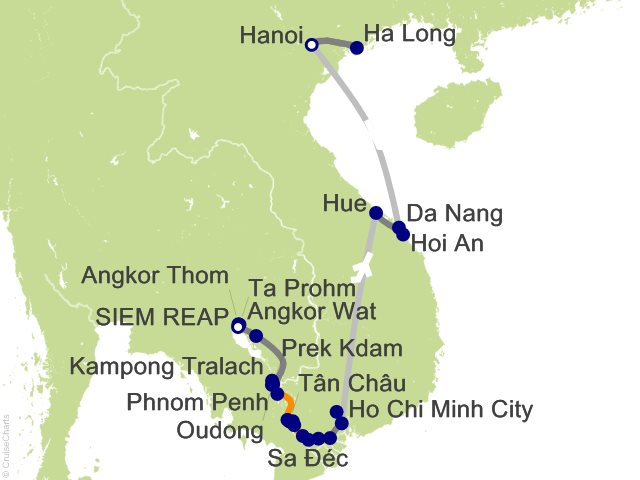20 Night Grand Tour of Vietnam and Cambodia Cruise and Land Tour