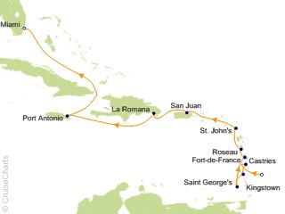 12 Night Bridgetown to Miami Cruise from Bridgetown