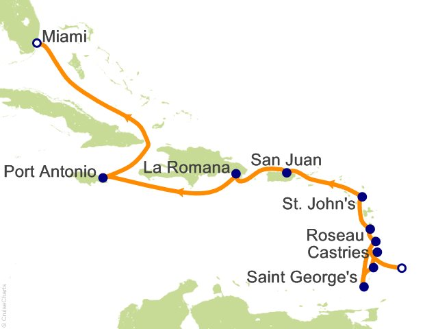 12 Night Bridgetown to Miami Cruise