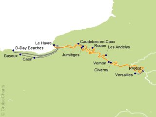 9 Night Rendezvous on the Seine Cruise from Paris
