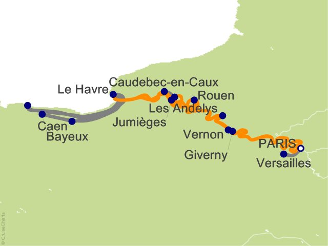 9 Night Rendezvous on the Seine Cruise