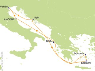 7 Night Mediterranean Cruise from Ancona
