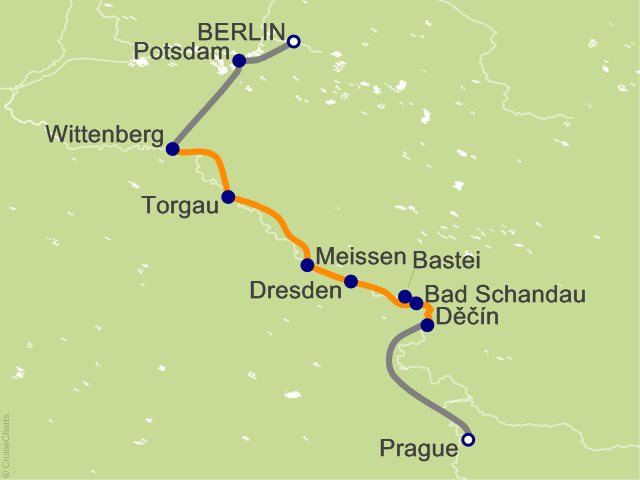 9 Night Christmas Along the Elbe Cruise and Land Tour