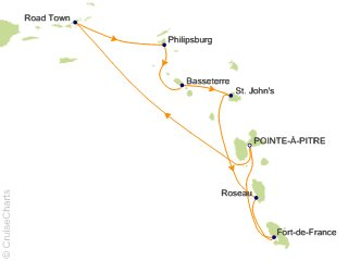 7 Night Caribbean Cruise from Pointe-a-Pitre