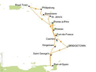14 Night Caribbean Cruise from Bridgetown