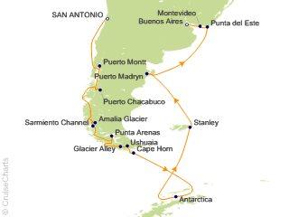 22 Night South America and Antarctica Cruise from San Antonio