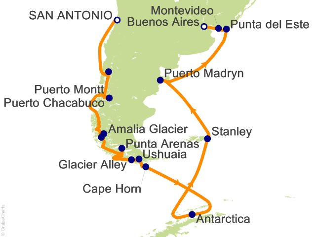 22 Night South America and Antarctica Cruise
