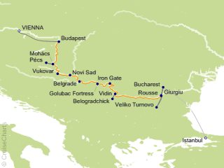 12 Night Gems of Southeast Europe Cruise and Land Tour from Vienna