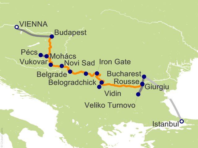 12 Night Gems of Southeast Europe Cruise and Land Tour