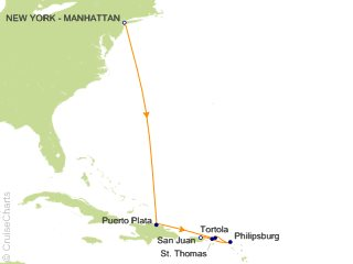 7 Night Caribbean from New York to San Juan   Dominican Republic and St. Thomas Cruise from New York