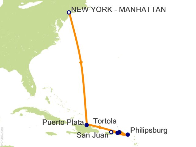 7 Night Caribbean from New York to San Juan   Dominican Republic and St. Thomas Cruise
