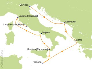 7 Night Mediterranean from Venice to Rome   Italy  Greece and Croatia Cruise from Venice