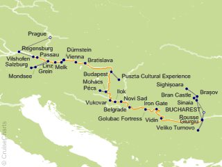 21 Night Grand Danube Cruise and Land Tour from Bucharest