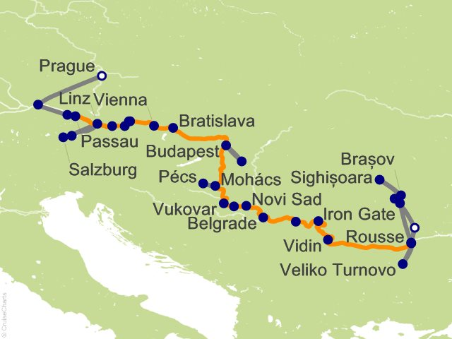 21 Night Grand Danube Cruise and Land Tour