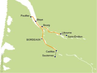 7 Night Chateaux  Rivers and Wine Cruise from Bordeaux
