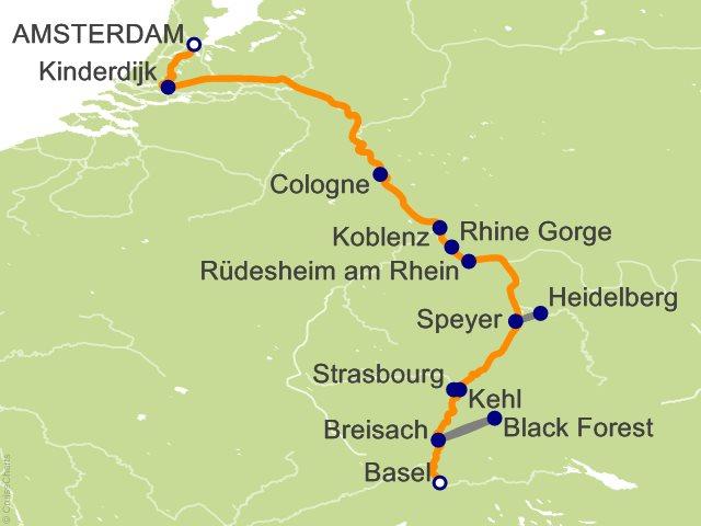 7 Night Rhine Getaway Cruise