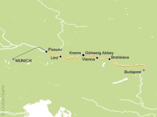 7 Night Danube Waltz Cruise from Munich