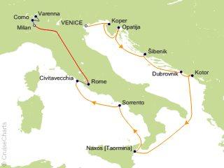 12 Night Amalfi and Dalmatian Coasts / Milan and Lake Como Cruise and Land Tour from Venice