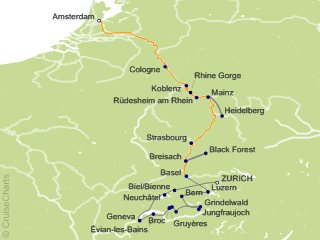 15 Night Spectacular Switzerland with Romantic Rhine Cruise and Land Tour from Zurich