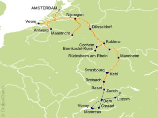 18 Night Romantic Rhine and Moselle with Switzerland Cruise and Land Tour from Amsterdam
