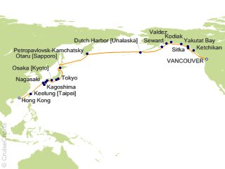 36 Night Far East and Alaska Cruise from Vancouver