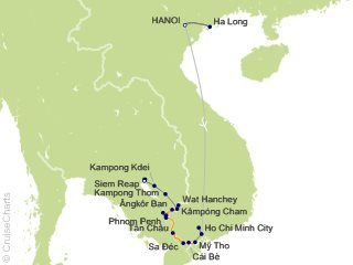 17 Night Highlights of Vietnam  Cambodia and Luxury Mekong Cruise and Land Tour from Hanoi