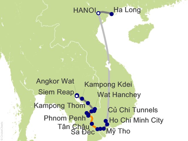 17 Night Highlights of Vietnam  Cambodia and Luxury Mekong Cruise and Land Tour