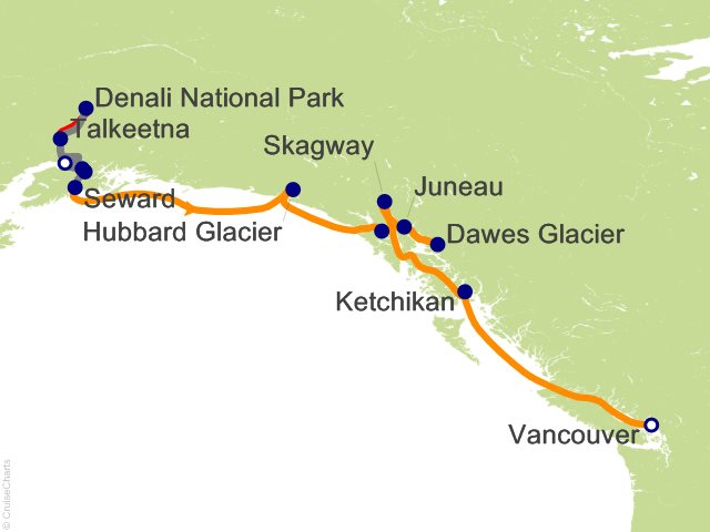 11 Night Denali and Alyeska - Southbound Cruisetour from Anchorage