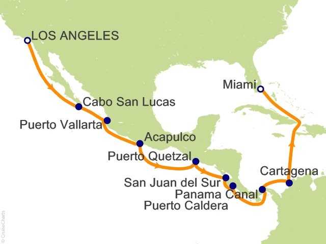 15 Night Panama Canal from Los Angeles to Miami   Mexico and Costa Rica Cruise