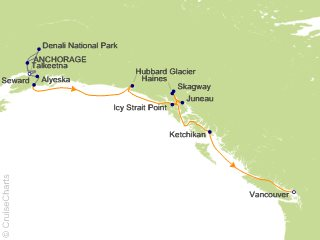 12 Night Mountain Panorama Adventure Pre-Cruise 5B from Anchorage from Anchorage
