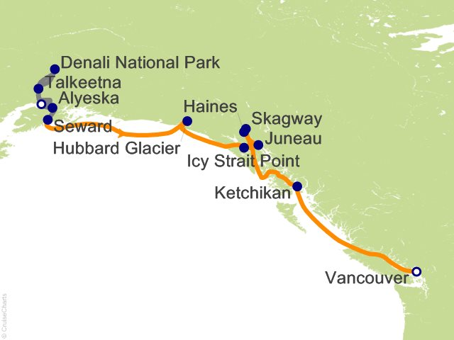 12 Night Mountain Panorama Adventure Pre-Cruise 5B from Anchorage