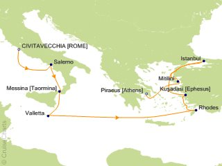 10 Night Rome (Civitavecchia) to Athens (Piraeus) Cruise from Civitavecchia (Rome)