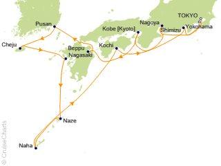 14 Night Tokyo to Tokyo (Yokohama) Cruise from Tokyo