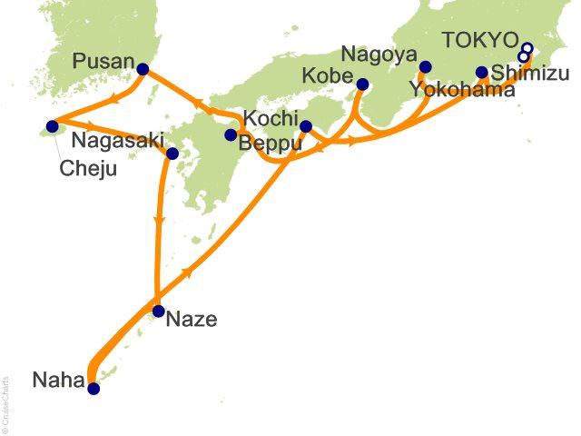 14 Night Tokyo to Tokyo (Yokohama) Cruise