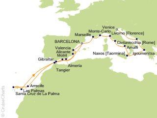 22 Night Barcelona to Venice Cruise from Barcelona