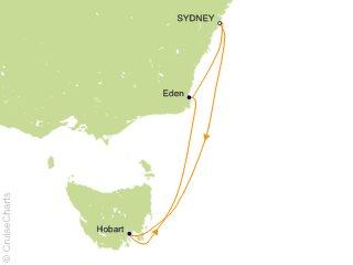 6 Night Tasmania Cruise from Sydney