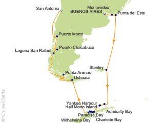 19 Night Buenos Aires to San Antonio (Santiago) Cruise from Buenos Aires