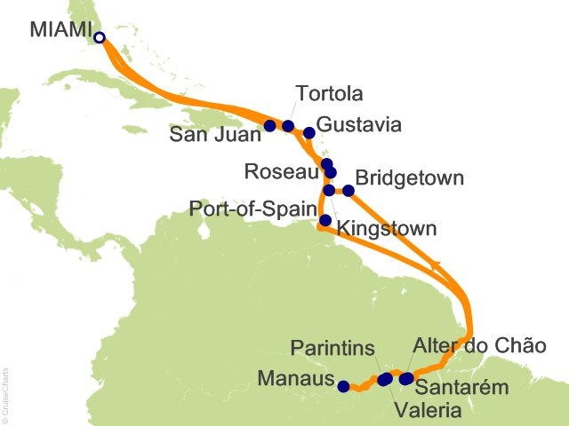 25 Night Amazon and the Islands Cruise