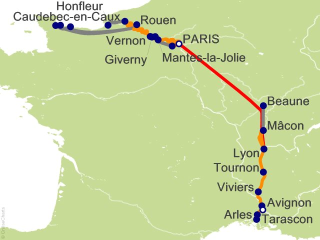 14 Night Grand France Cruise and Land Tour