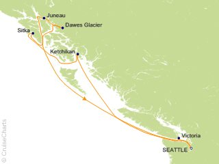 7 Night Alaska Glacier Cruise from Seattle