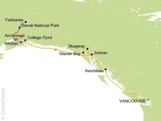 10 Night Denali Cruise and Land Tour from Vancouver