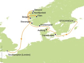 11 Night Stockholm to Southampton Cruise from Stockholm