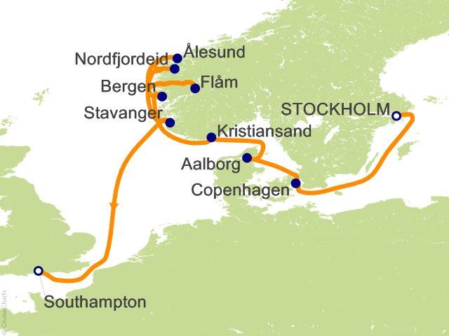 11 Night Stockholm to Southampton Cruise