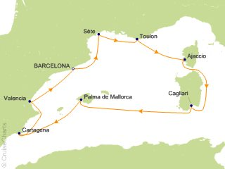 8 Night Western Mediterranean Cruise from Barcelona