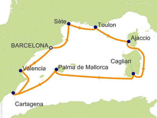8 Night Western Mediterranean Cruise