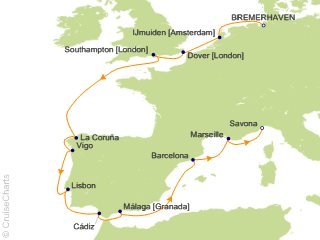 13 Night Northern Europe from Bremerhaven Cruise from Bremerhaven