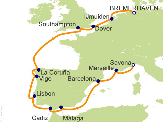 13 Night Northern Europe from Bremerhaven Cruise