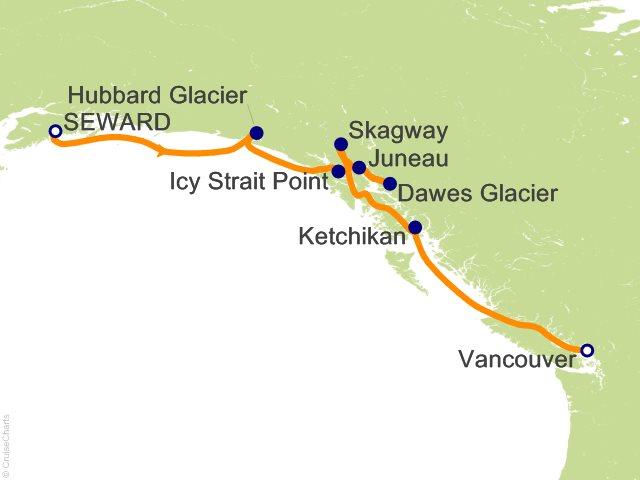 7 Night Alaska with Inside Passage from Seward (Southbound) Cruise
