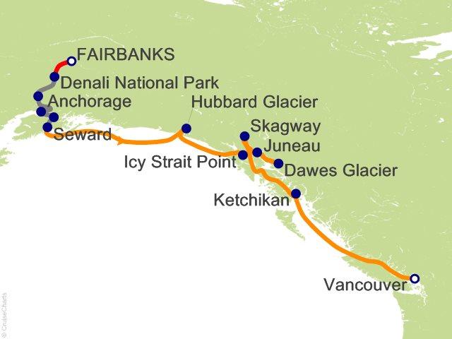 12 Night Denali Talkeetna Explorer - Southbound Cruisetour from Fairbanks